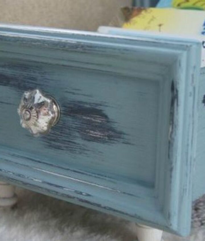 s pull drawers out of your dressers for these 12 brilliant ideas, painted furniture, Revamp one as living room organizer
