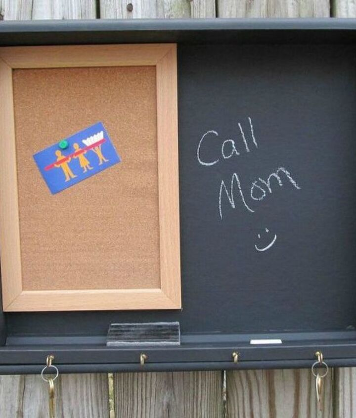 s pull drawers out of your dressers for these 12 brilliant ideas, painted furniture, Make them into hallway memo boards