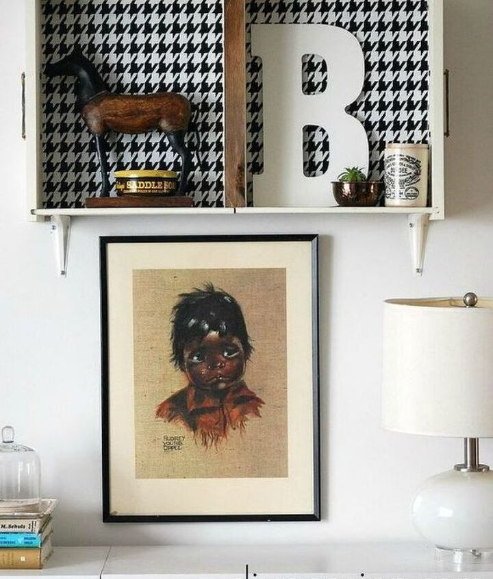 s pull drawers out of your dressers for these 12 brilliant ideas, painted furniture, Hang them up as herringbone shadow boxes