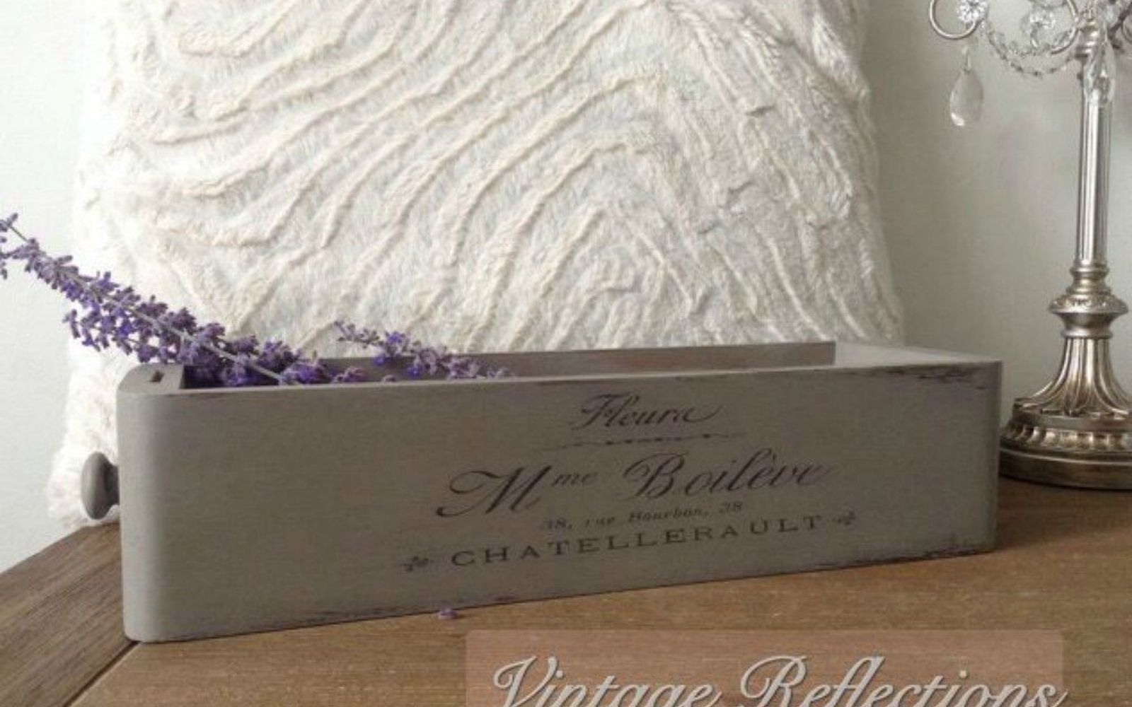 s pull drawers out of your dressers for these 12 brilliant ideas, painted furniture, Redo them as vintage lavender drawers