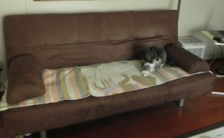 q one of the easiest tip on lightening up a space couch makeover, painted furniture