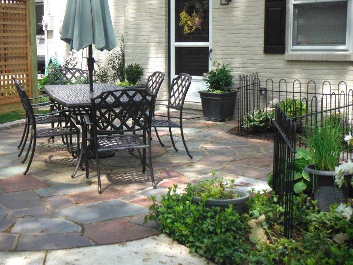 q ideas to paint slate patio