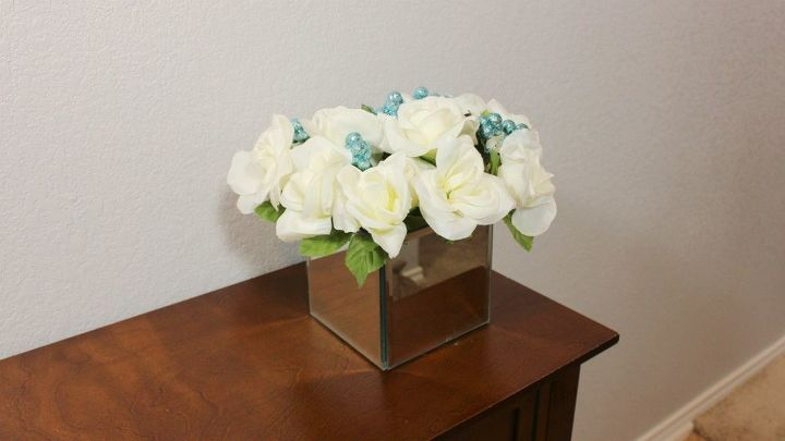 Dollar Tree Diy Mirror Box Vase And Flower Arrangement Hometalk