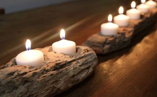 Make a driftwood sun burst hometalk for What kind of paint to use on kitchen cabinets for scented candle holder