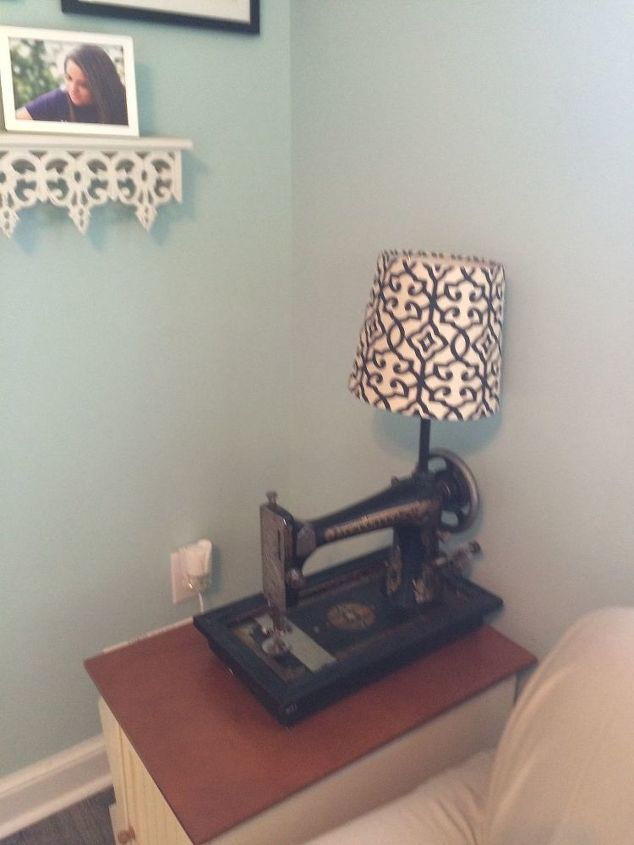 t antique sewing machine part 2, repurposing upcycling