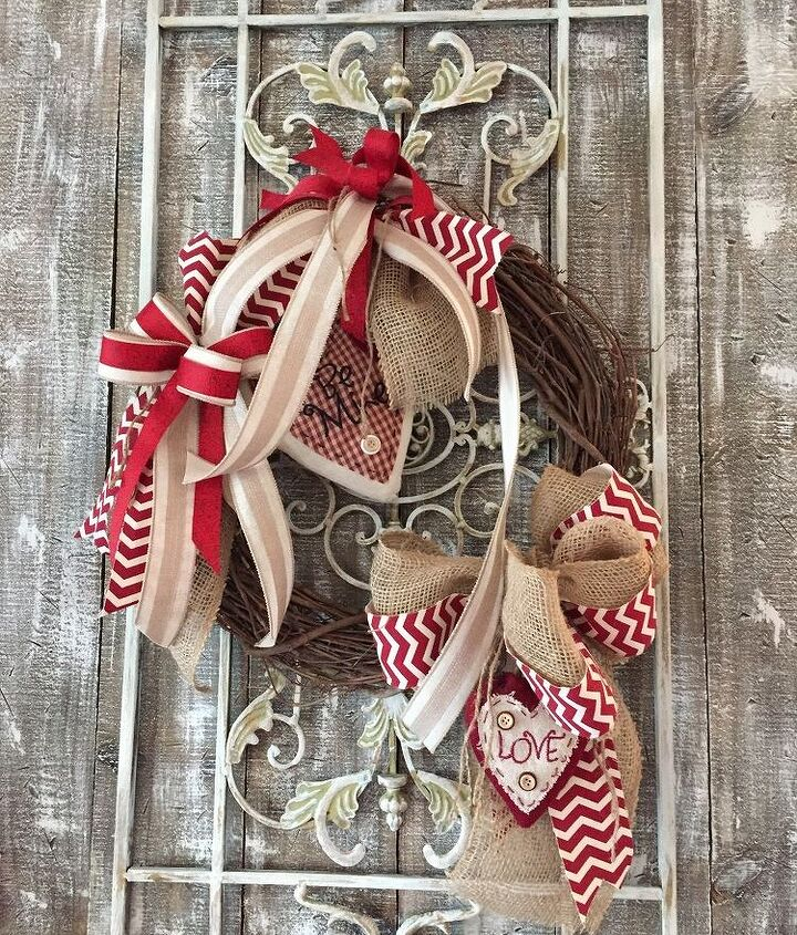 rustic valentine s day wreath, crafts, seasonal holiday decor, valentines day ideas, wreaths