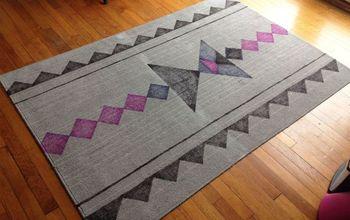 sharpie rug makeover, reupholster