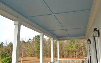our new haint blue porch ceiling, wall decor