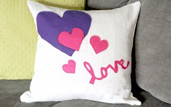 DIY Valentines Pillow Cover