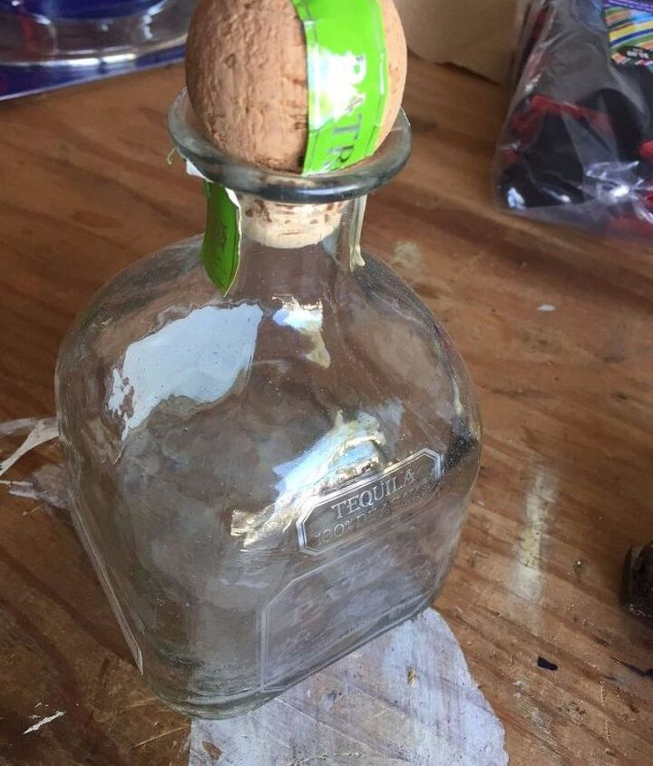 repurposed vintage inspired glass bottle