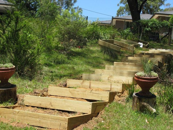 timber garden stairs steps, stairs