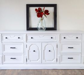 Vintage Dresser Makeover In White Chalk Paint And Oil Rubbed Hardware, Chalk  Paint, Painted