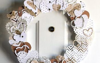 Neutral Heart Wreath for Valentine's Day