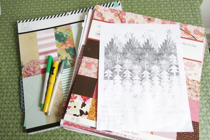 Use Scrapbook Paper To Make Quilt Inspired Wall Art Hometalk