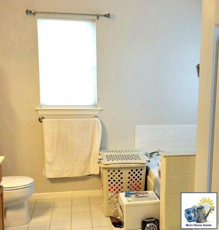 DIY Stenciled Bathroom Wall | Hometalk