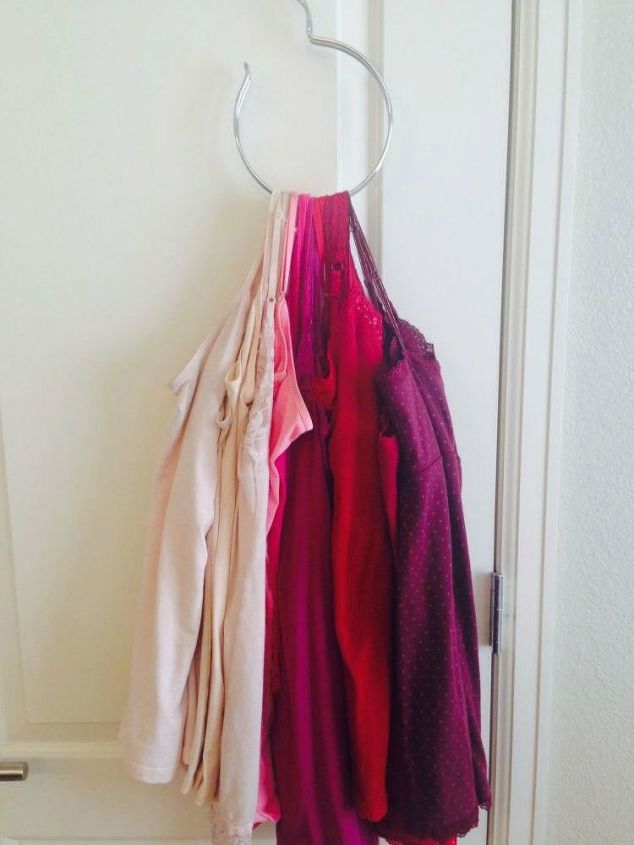 s why you should use hanging storage from now on 13 ways, storage ideas, Consolidate camis or scarves on a hanger