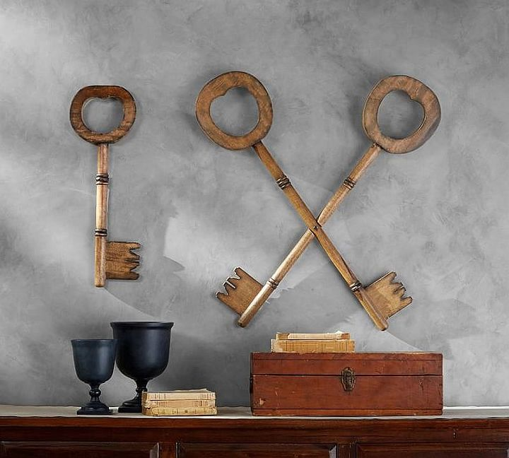 rustic wooden keys inspired by pottery barn, outdoor living