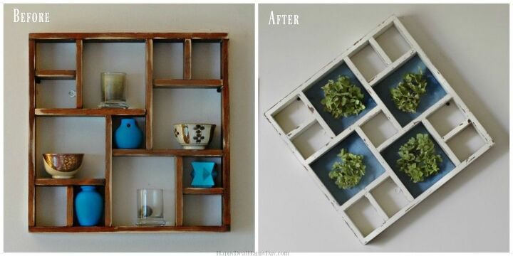 e what do you do with an old display shelf, shelving ideas
