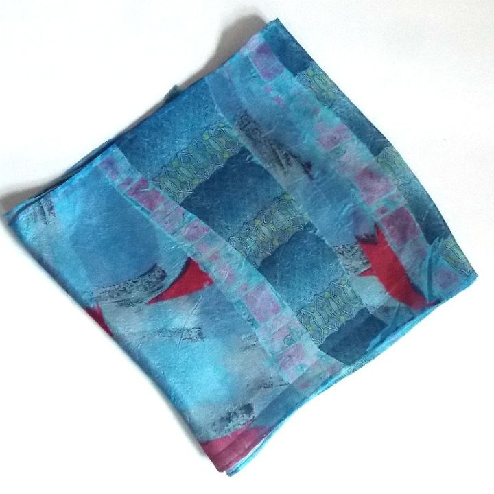 printing on silk with silk ties super fun easy craft project, crafts