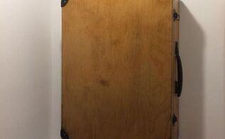 old suitcase into bathroom cabinet, bathroom ideas, kitchen cabinets, kitchen design