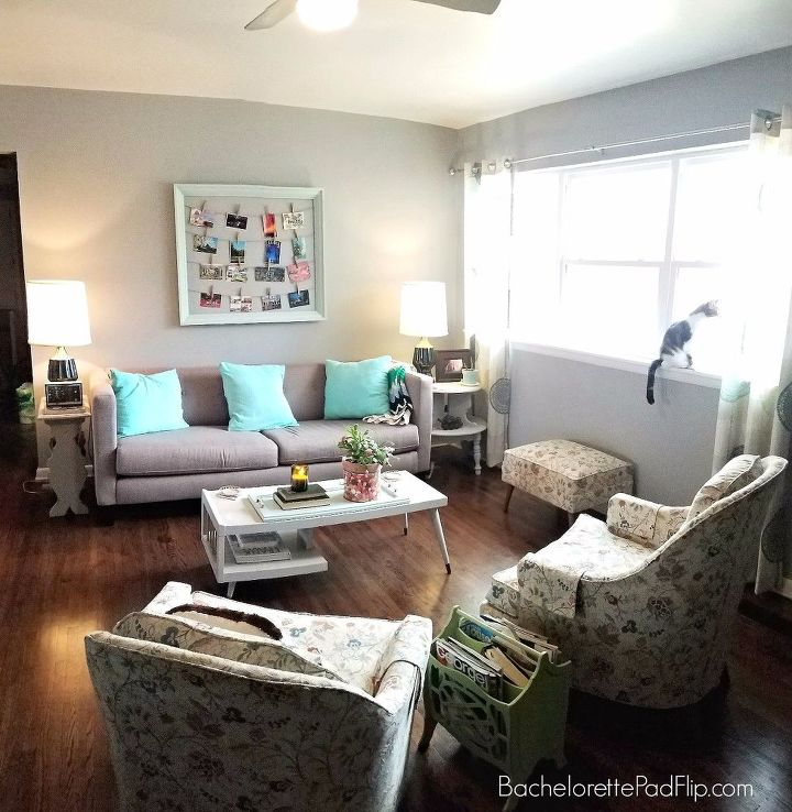 Updating decorating a midcentury living room on a budget - Mid century modern decor on a budget ...