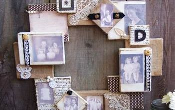 canvas and burlap heirloom wreath, crafts, wreaths