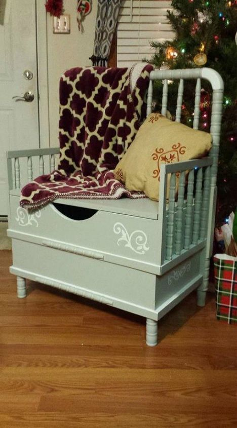 s don t kick your old crib to the curb before seeing these 14 ideas, curb appeal, Turn it into an entryway chest