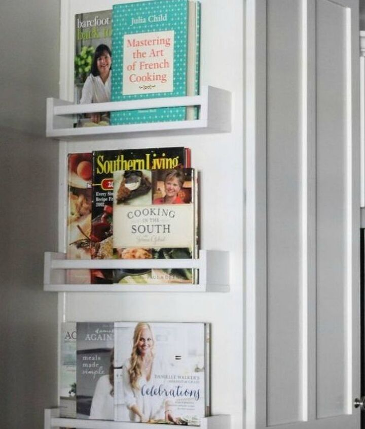 s organize your kitchen with these 16 simple and cheap storage ideas, kitchen design, organizing, storage ideas, Install thin bookshelves on your cabinets