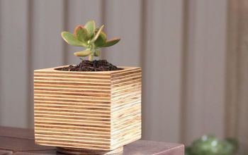 Plywood Flower Pot