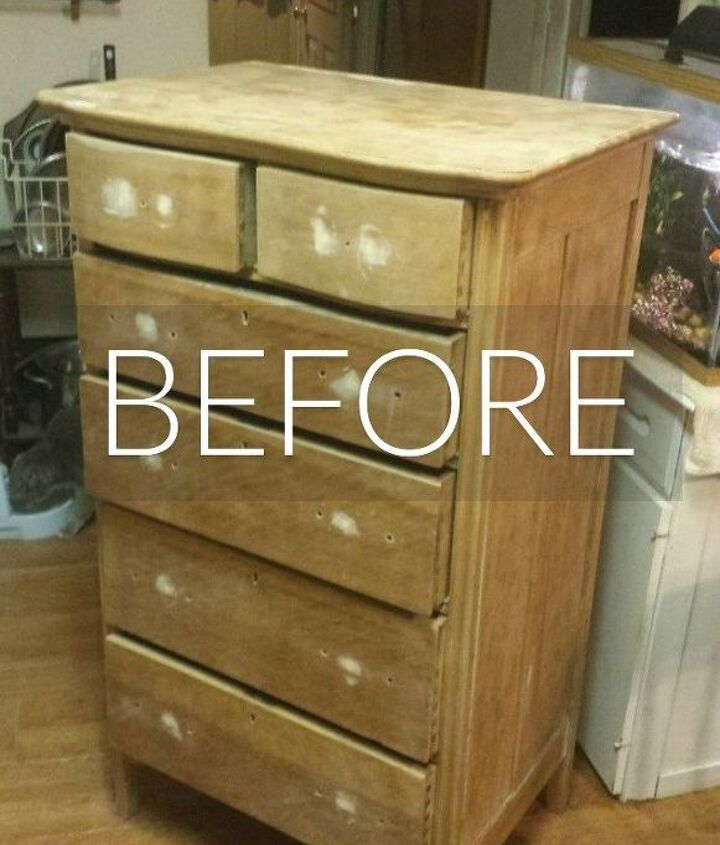 s stop everything these dresser makeovers look ah mazing, painted furniture, Before A sad looking bare dresser