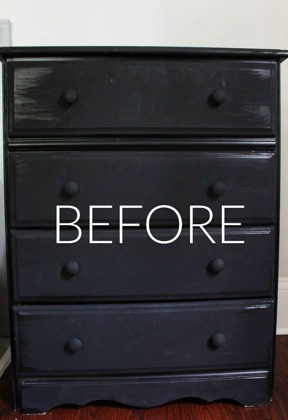 s stop everything these dresser makeovers look ah mazing, painted furniture, Before Dark scratched and faded