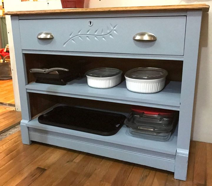 kitchen island made from old dresser, kitchen design, painted furniture