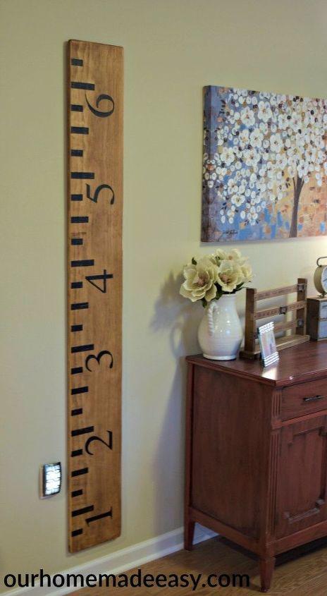 Wooden Ruler Growth Chart Hometalk