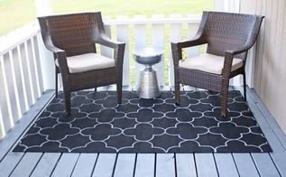 diy outdoor rug, reupholster