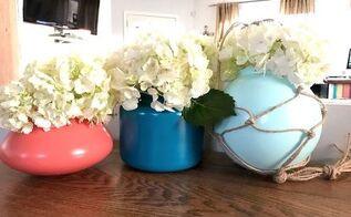 upcycled light globe vases