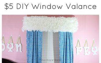 $5 DIY WINDOW VALANCE