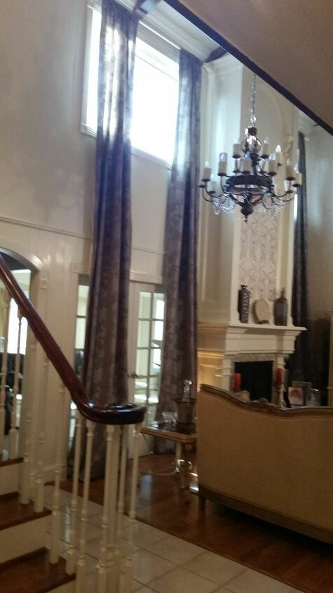 t 2 story curtains for whole lot less than custom, home decor, window treatments