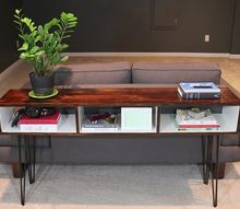 build a mid century modern sofa table, painted furniture