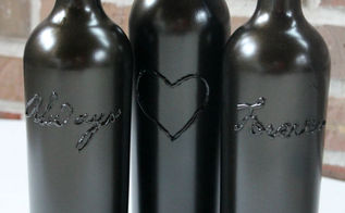 the simple way to make decorative wine bottles