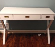 upcycled target desk gross to glamour, painted furniture
