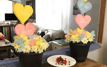 Conversation Heart Topiaries (Valentine's Day Decor)