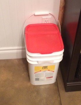 rag bin, composting, go green, storage ideas