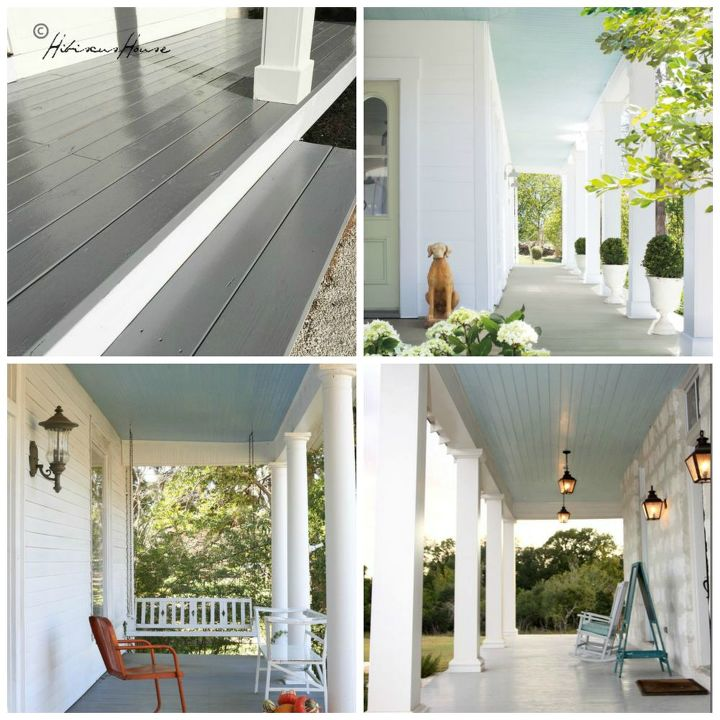 our new porch floor color choice, flooring