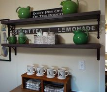 q kitchen update for only 30 bucks shelves and a touch of color, kitchen design, shelving ideas