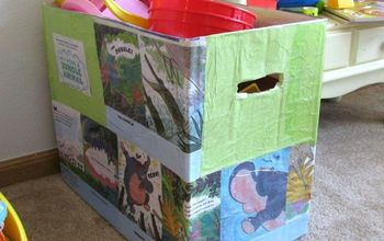 How to Reuse a Diaper Box and an Old Children's Books