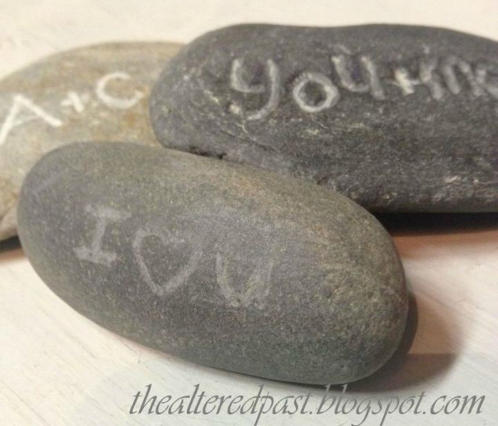 s 20 heartfelt valentine s day gifts for under 20, seasonal holiday decor, valentines day ideas, Carve messages into rocks