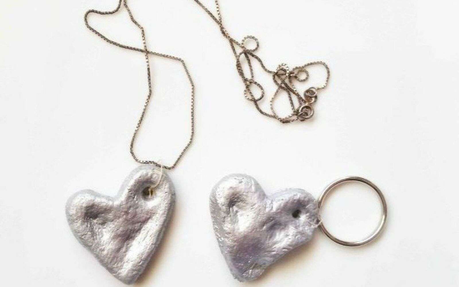 s 20 heartfelt valentine s day gifts for under 20, seasonal holiday decor, valentines day ideas, Shape salt dough into thumbprint hearts