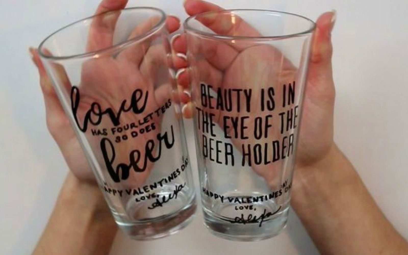 s 20 heartfelt valentine s day gifts for under 20, seasonal holiday decor, valentines day ideas, Etch a fun message onto big cup