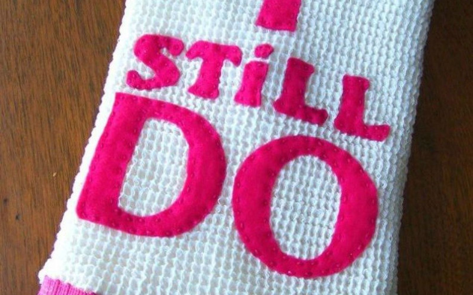 s 20 heartfelt valentine s day gifts for under 20, seasonal holiday decor, valentines day ideas, Decorate a dish towel with a message
