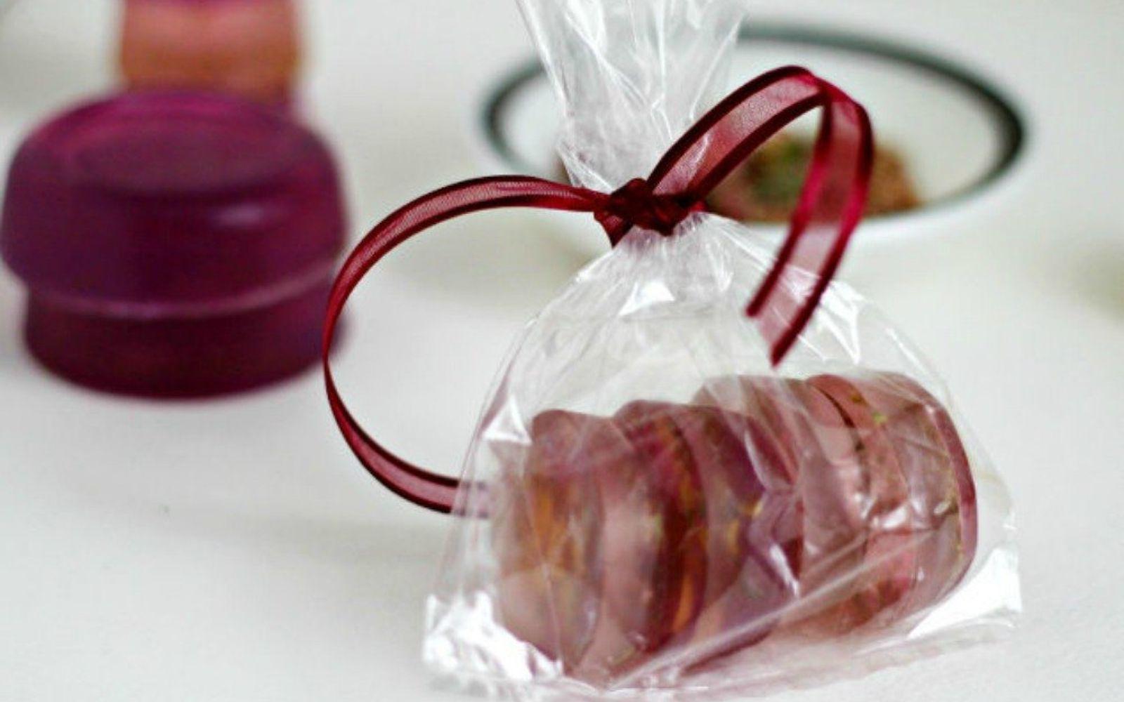 s 20 heartfelt valentine s day gifts for under 20, seasonal holiday decor, valentines day ideas, Make rose petal glycerin soap